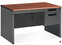 "Picture of 48"" Steel Office Desk Workstation, Filing Pedestal"