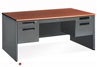 "Picture of 60"" Steel Office Desk Workstation, Filing Pedestals"