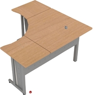 "Picture of 60"" x 60"" L Shape Laminate Office Desk Workstation"