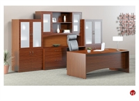 "Picture of 72"" Excutive Office Desk Workstation, Storage Credenza"