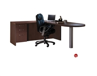 "Picture of 72"" L Shape D Top Bullet Office Desk Workstation"
