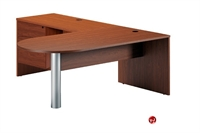 "Picture of 72"" Laminate D Top Bullet L Shape Office Desk"