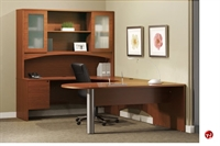 "Picture of 72"" Laminate D Top Bullet U Shape Office Desk Workstation,Oveheard Storage"