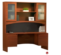 "Picture of 72"" Laminate Kneespace Credenza with Overhead Storage"