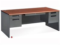 "Picture of 72"" Steel Office Desk Workstation, Filing Pedestals"