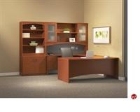 "Picture of 72"" U Shape Laminate Office Desk Workstation, Overhead Storage"