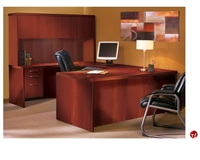 "Picture of 72"" U Shape Laminate Office Desk Workstation, Overhead Storage"