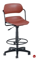 Picture of Armless Plastic Drafting Stool Chair