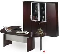 "Picture of Contemporary Veneer 72"" Desk with Filing Pedetal,Wardrobe Storage Credenza"