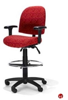 Picture of RFM 48133 Ergonomic Office Task Stool Chair, Footring