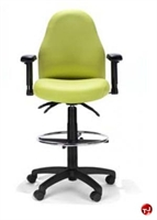 Picture of RFM 48333 Ergonomic High Back Office Task Stool Chair, Footring