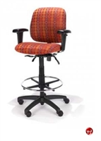 Picture of RFM 5823 Ergonomic Office Task Stool Chair, Footring