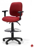 Picture of RFM 5843 Ergonomic Office Task Stool Chair, Footring