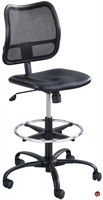 Picture of Mesh Armless Drafting Footring Stool Chair