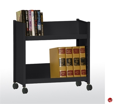 """Picture of 2 Sloped Mobile Book Truck, 36"""" x 18"""" x 52"""""""