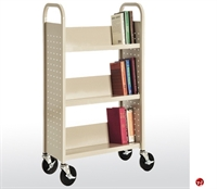 "Picture of 3 Tier Single Sided Mobile Book Truck, 27"" x 13"" x 42"""