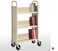 "Picture of 3 Tier Single Sided Mobile Book Truck, 31"" x 13"" x 42"""