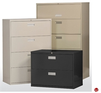 """Picture of 4 Drawer Steel Lateral File Cabinet, 36"""" x 19"""" x 54"""""""