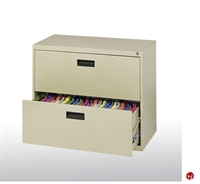 """Picture of 400 Series 2 Drawer Lateral File Metal Cabinet, 30"""" x 18"""" x 27.25"""""""