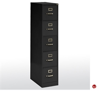 "Picture of 5 Drawer Steel Letter Vertical File Cabinet, 15"" x 26"" x 60"""