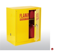 "Picture of Compact Flammable Safety Storage Cabinet, Double Door, 35"" x 22"" x 35"""