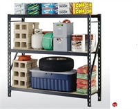 "Picture of Heavy Duty Welded Steel Open Rack Shelf, 77"" x 24"" x 72"""