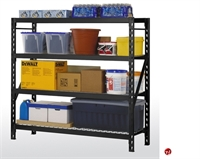 "Picture of Heavy Duty Welded Steel Open Wire Rack Shelf, 77"" x 24"" x 72"""