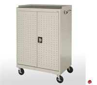 "Picture of Mobile Laptop Security Cabinet, 36"" x 24"" x 52"""