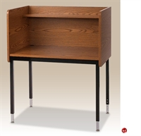"Picture of 24""D x 37""W Adjustable Height Study Carrel with Overhead Shelf"