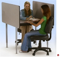 "Picture of 48""x 37"" Adjustable Height Study Carrel Workstation"
