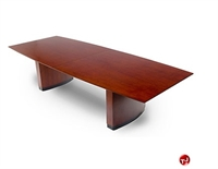 "Picture of TRIA 12', 48"" x 144"" Veneer Boat Shape Office Conference Table"