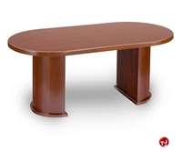 "Picture of TRIA 36"" x 72"" Veneer Racetrack Oval Conference Table"