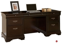 "Picture of 72"" Veneer Kneespace Storage Credenza Desk"