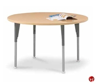 "Picture of Vanerum Acute, 36"" Round Adjustable Training Meeting Table"