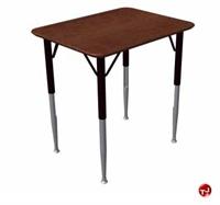 """Picture of Vanerum Prime Adjustable School Desk, 30"""" x 20""""D"""
