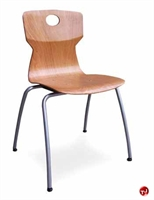 Picture of Vanerum Soliwood Cafeteria Dining Armless Wood Stack Chair