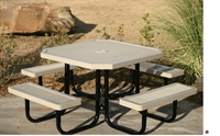 "Picture of Webcoat Regal T46, 46"" Octagon Metal Outdoor Picnic Bench Table"