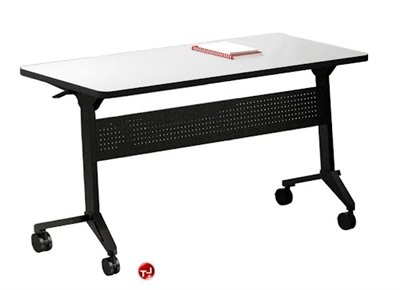"""Picture of 18"""" X 48"""" Mobile Flip Top Nesting Training Table"""