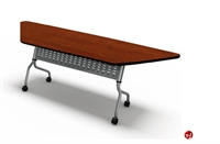 "Picture of 24"" X 60"" Mobile Trapezoid Flip Nesting Training Table"
