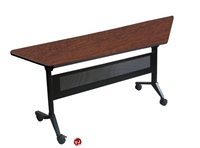 "Picture of 24"" X 60"" Trapezoid Mobile Flip Top Nesting Training Table"