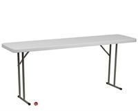 "Picture of Brato 18"" x 96"" Plastic Folding Table"