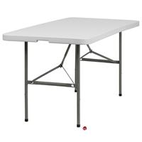 "Picture of Brato 30"" x 60"" Bi-Fold Resin Plastic Folding Table"