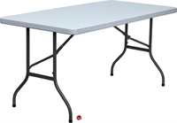 "Picture of Brato 30"" x 60"" Resin Plastic Folding Table"