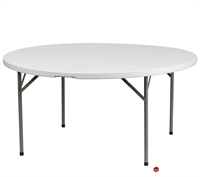 "Picture of Brato 60"" Round Resin Plastic Folding Table"