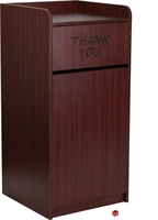 Picture of Brato Mahogany Wood Receptacle