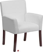 Picture of Brato White Leather Reception Club Chair
