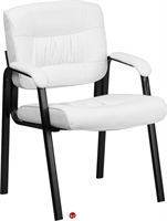 Picture of Brato White Leather Reception Guest Arm Chair