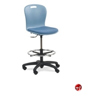 Picture of AILE Padded Poly Armless Swivel Task Stool Chair, Footring