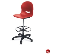 Picture of AILE Armless Poly Swivel Task Stool Chair, Footring