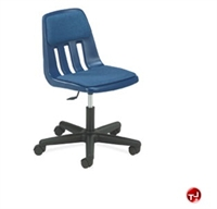 Picture of AILE Armless Poly Plastic Swivel Task Chair